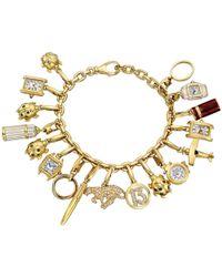 Cartier - Vintage 18k Yellow Gold Charm Bracelet - Lyst