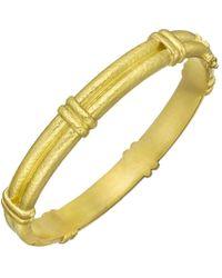 Elizabeth Locke 19k Yellow Gold Double-banded Bangle - Multicolor