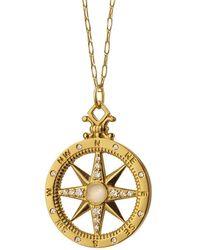 Monica Rich Kosann 18k Yellow Gold & Diamond Global Compass Pendant