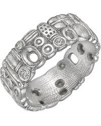 Alex Sepkus Platinum & Diamond Band Ring - Metallic