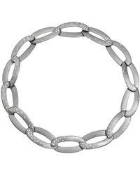 "Vhernier Titanium & Diamond ""olimpia"" Link Necklace - Metallic"