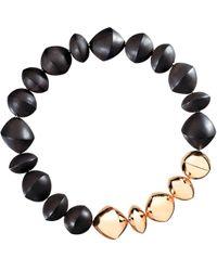 "Vhernier Ebony & 18k Rose Gold Bead ""trottola"" Necklace - Black"