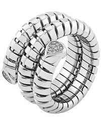 """Marina B 18k White Gold & Diamond """"trisola"""" Wrap Ring - Metallic"""