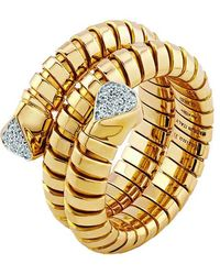 "Marina B 18k Yellow Gold & Diamond ""trisola"" Wrap Ring - Metallic"