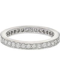 Cartier Platinum & Diamond Band Ring - Metallic