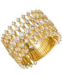 "Fernando Jorge - 18k Yellow Gold & Diamond ""disco"" Band Ring - Lyst"