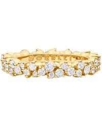 "Paul Morelli Small 18k Yellow Gold & Diamond ""confetti"" Band Ring"