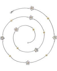 Buccellati Silver & Vermeil Gardenia Long Necklace - Metallic