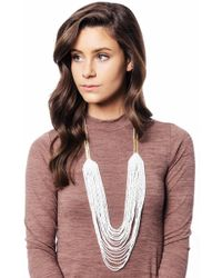 bevello - Beaded Drop Necklace - Lyst