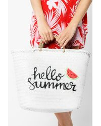 San Diego Hat Company - Woven Hello Summer Tote - Lyst