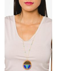 bevello - Beaded Medallion Necklace - Lyst