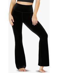 Beyond Yoga Velvet Bell Trousers - Black