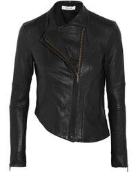 Helmut Lang Asymmetric Leather Biker Jacket - Lyst