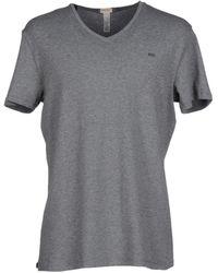 DIESEL V-Neck Jersey Undershirt - Grey