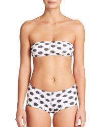 Norma Kamali Painted Dot Bandeau Bikini Top - Lyst