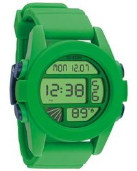 Nixon The Unit Green Blue Navy Watch green - Lyst