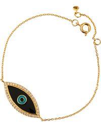 Tai Enamel Evil Eye Bracelet - Lyst