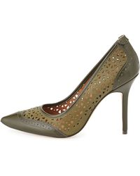Rachel Roy Amma Two-Tone Perforated Leather Pumps - Lyst