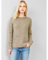Gap Boucle Boatneck Sweater - Lyst