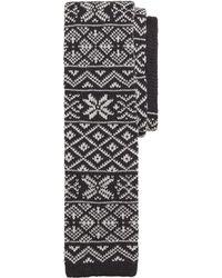 Brooks Brothers Fair Isle Knit Tie - Lyst