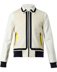 Jonathan Saunders Contrast-colour Wool Bomber Jacket - Lyst