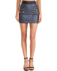 Self-portrait Signature Biker Skirt - Lyst