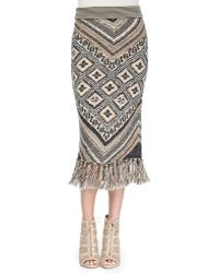 Free People Magic Carpet-print Slim Midi Skirt - Lyst