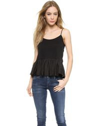 CLU Washed Pleated Camisole - White - Lyst