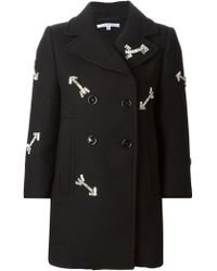 Carven Sequins Embroidered Arrows Coat - Lyst