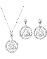Swarovski Backstage Silver-tone and Crystal Earrings and Necklace Trio - Lyst
