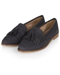 Topshop Kink Fringe Tassle Loafers - Lyst