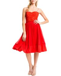 Cynthia Steffe Riley Dress red - Lyst