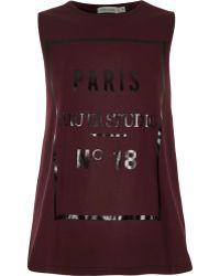River Island Red Paris Haute Studio Print Swing Tank Top - Lyst