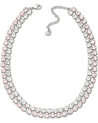 Swarovski Vintage Rose And Clear Crystal Collar Necklace - Lyst