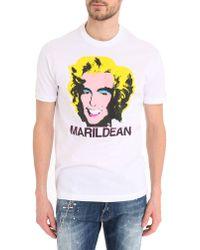 DSquared² White Marildean T-Shirt - Lyst