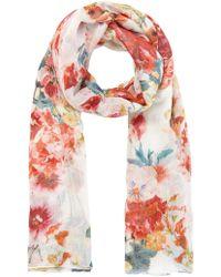 Karen Millen - Floral-print Scarf - Lyst