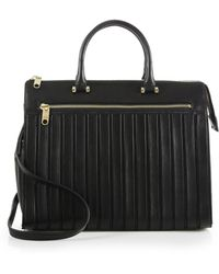 Milly Ludlow Trapunto Large Tote - Lyst