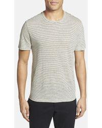 Michael Kors Stripe Linen T-Shirt - Lyst