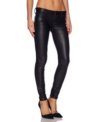 Black Orchid Leather Skinny - Lyst