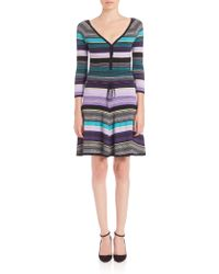 Diane von Furstenberg | Carrigan Striped Dress | Lyst
