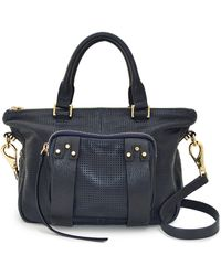 She + Lo - Perforated Leather Next Chapter Mini Satchel - Lyst