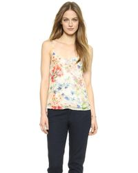 Theory Floral Print Vaneese Cami - Multi - Lyst