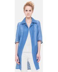 Akris Elbow Sleeve Cotton & Silk Coat - Lyst