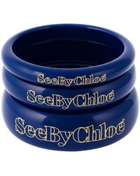 See By Chloé Set Of Three Bangles - Blue