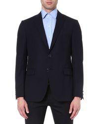 Etro Singlebreasted Wool Suit Jacket Navy - Lyst