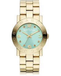 Marc By Marc Jacobs Amy Gold Ip Stainless Steel Womens Watch - Metallic