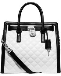 Michael Kors Michael Hamilton Quilted North South Tote - Lyst