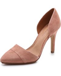 Madewell - The Suede D'orsay Heels - Dried Rose - Lyst