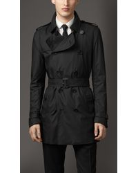Burberry Technical Fabric Trench Coat - Lyst