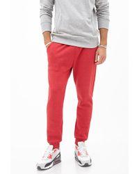 Forever 21 - Cotton-blend Drawstring Sweatpants - Lyst